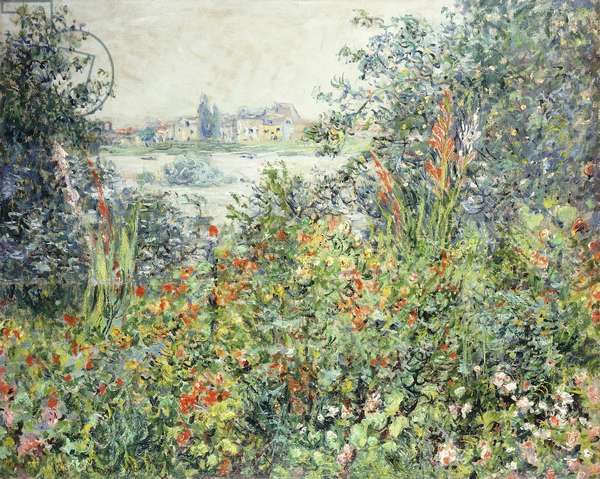 Flowers at Vetheuil; Fleurs a Vetheuil, 1881 (oil on canvas)