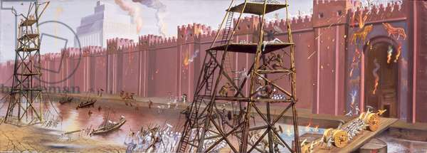 The Walls of Babylon, 1954 (oil on canvas)