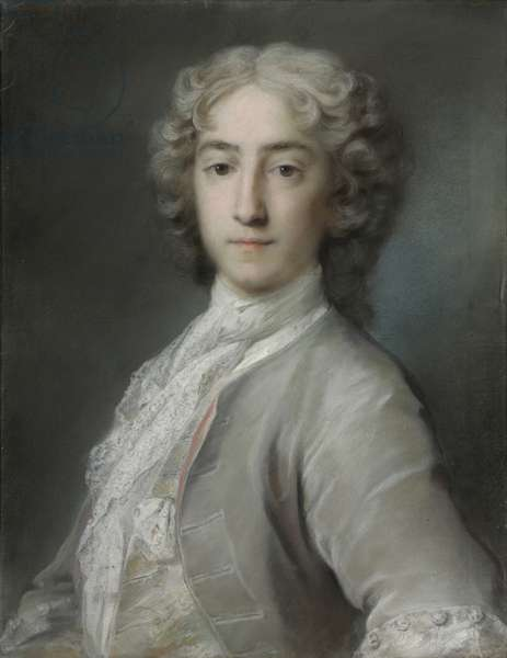 Portrait of Lord Sidney Beauclerk, half-length, in a grey velvet coat and white stock (red & black chalk, pastel, & bodycolour on paper)