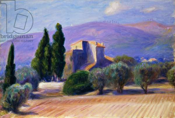 Farm House in Provence, (oil on canvas)