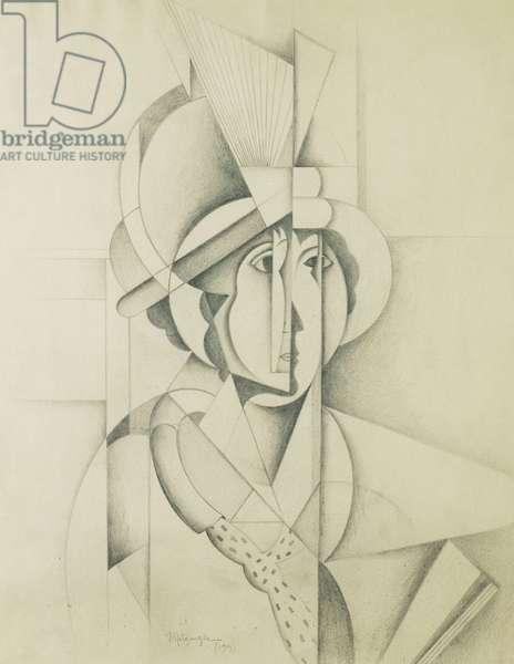 Woman with Hat; Femme au Chapeau, 1913 (pencil on paper)