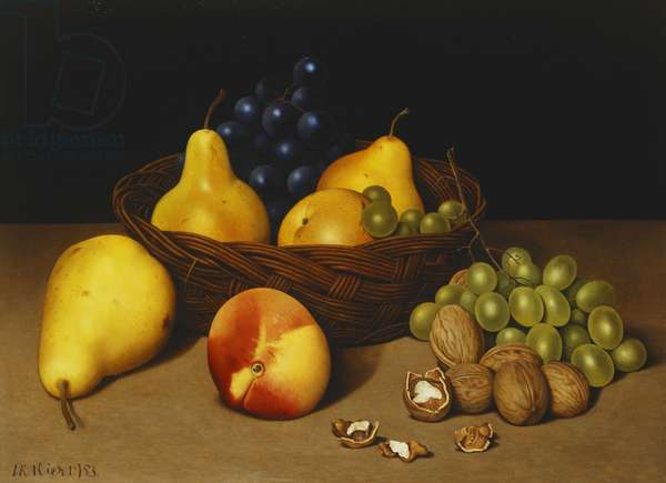The Basket of Fruit, 1953 (tempera on canvas)