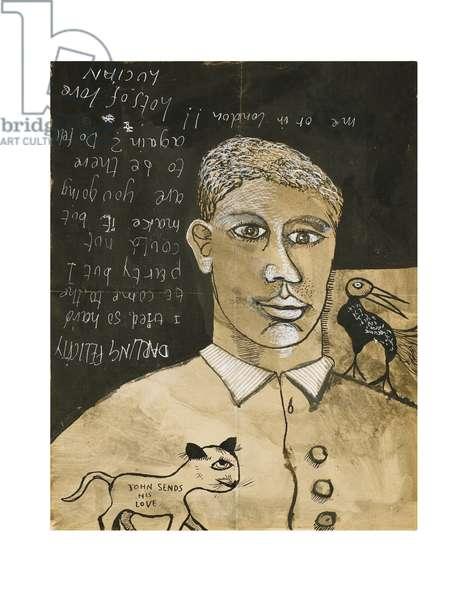 Portrait of a Boy, c.1940 (ink & gouache on paper)