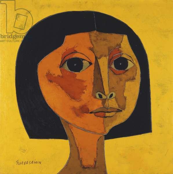 Portrait of Girl; Retrato de Muchacha (oil on canvas)