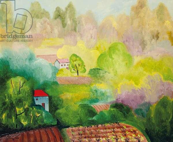 Landscape at Saint Tropez, 1918 (oil on canvas)