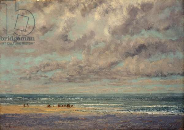 Marine - Les Equilleurs, (oil on canvas)