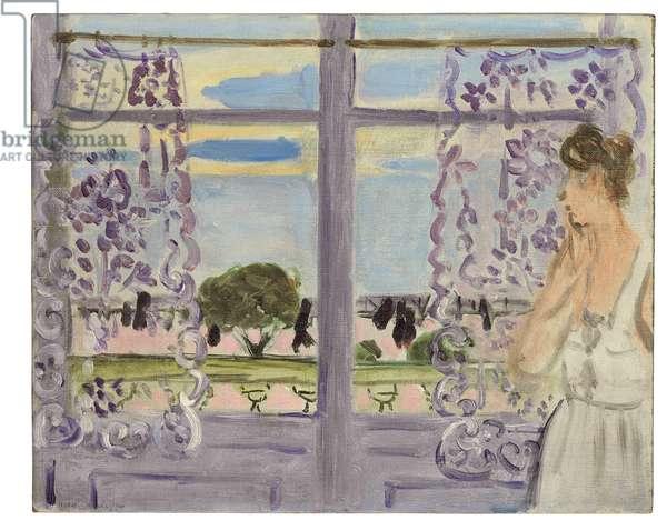 Femme Aupres de la Fenetre, 1919 (oil on canvasboard)
