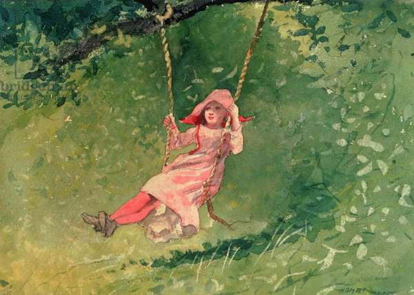 Girl on a Swing (w/c & pencil on paper)