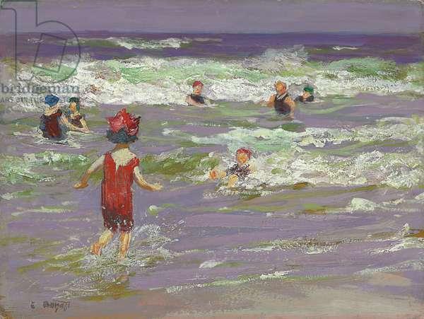 Little Sea Bather (oil on board)