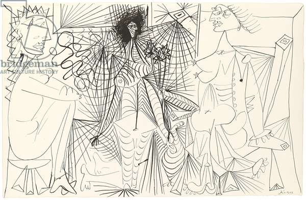 Three Nudes, 1938 (pen and ink on paper)
