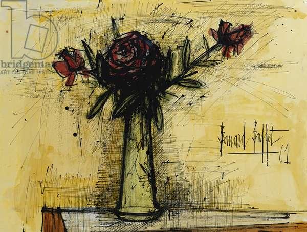 Bouquet de Roses, 1961 (gouache, watercolour, pen and ink on paper)
