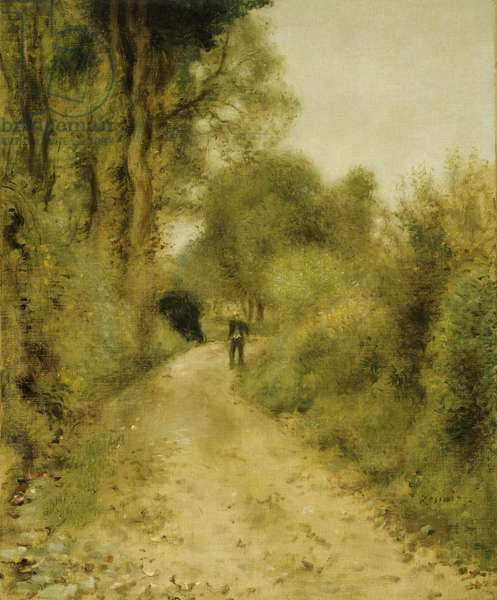 On the Path (oil on canvas)