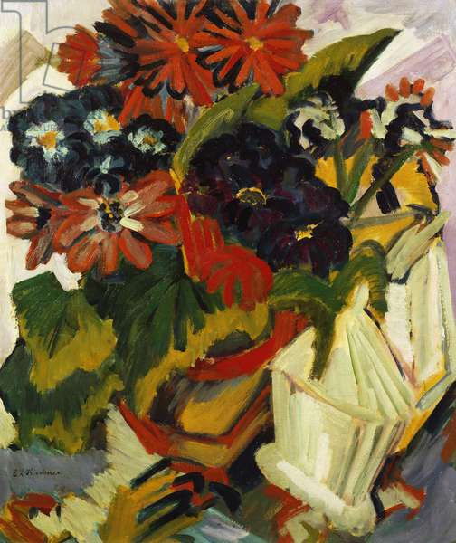 Flowerpot and Sugar Bowl, 1918-19 (oil on canvas)