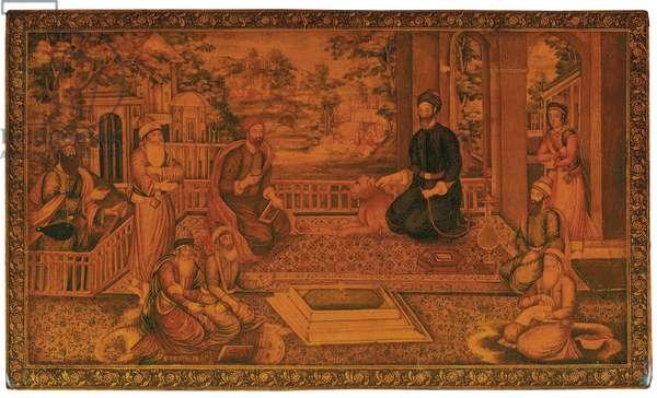Qajar mirror case, c.1840 (lacquer & papier mache)
