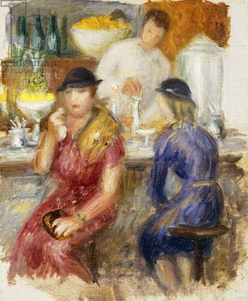 Study for 'The Soda Fountain', 1935 (oil on canvas)