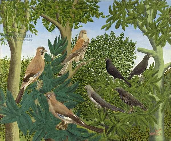 Oiseaux dans les Arbres, 1930 (oil on canvas)