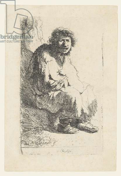 Beggar seated on a Bank, 1630 (etching)