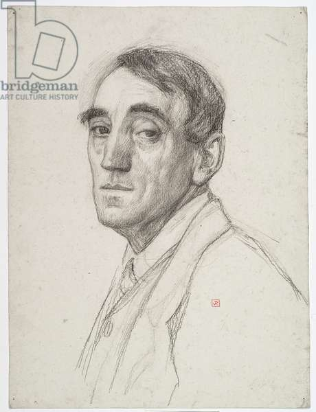 Self portrait, 1916 (crayon & charcoal on paper)