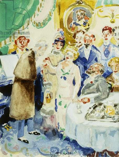 Le Salon Verdurin from `A la Recherche du Temps Perdu', 1947-1948 (watercolour on paper)