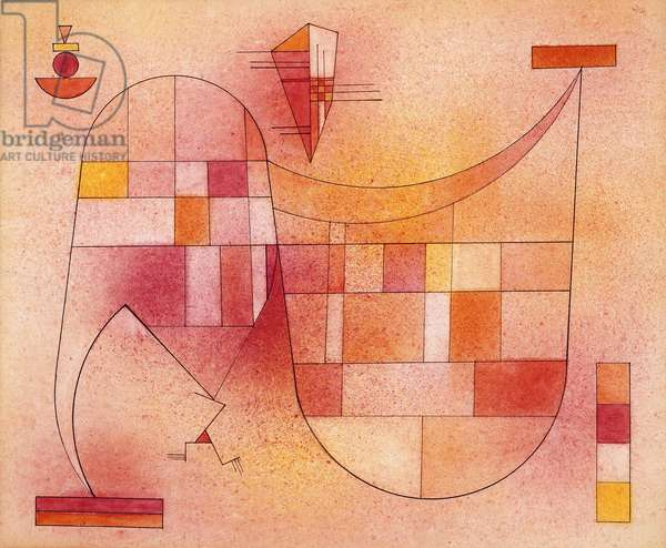 Yellow Pink; Gelb Rosa, 1929 (watercolour with pen and black ink on paper laid on board)
