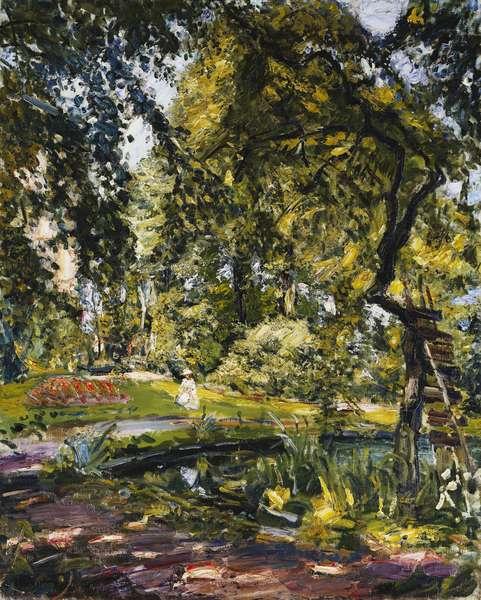 Garden in Godrammstein with a Twisted Tree and Pond; Garten in Godrammstein mit Verwachsenem Baum und Weiher, 1910 (oil on canvas)