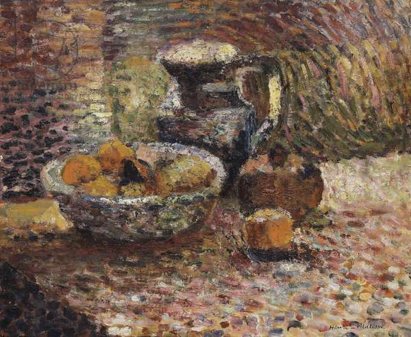 Still-life with Pitcher and Fruits, 1898 (oil on canvas)