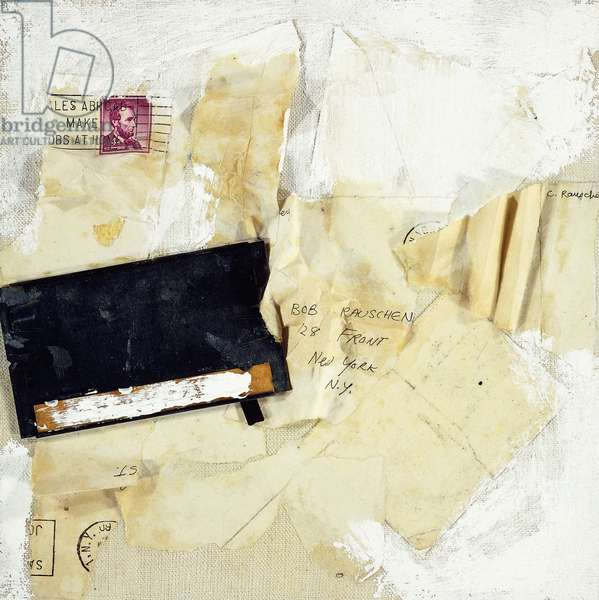 Untitled, 1960 (metal, paper collage and oil on canvas)