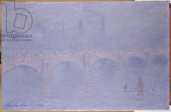 Waterloo Bridge, Hazy Sunshine (oil on canvas)