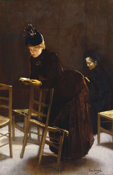 Woman at Prayer (oil on panel)