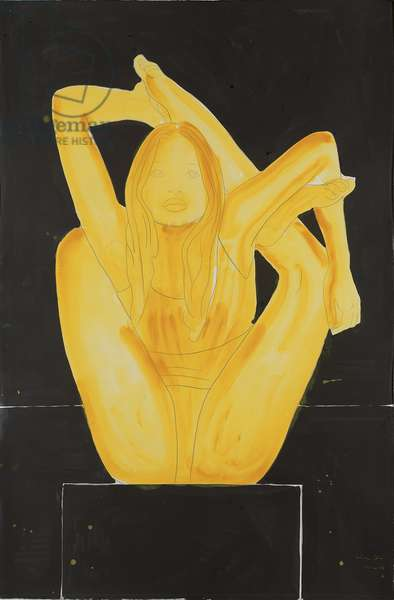 Maquette for Siren (one of three), 2006 (w/c & pencil on paper)
