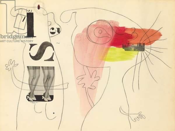 Metamorphosis, 1936 (watercolour, collage, brush, ink and charcoal on paper)