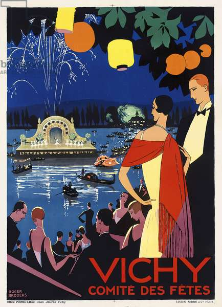 Poster advertising Vichy, France, c.1930 (colour lithograph)