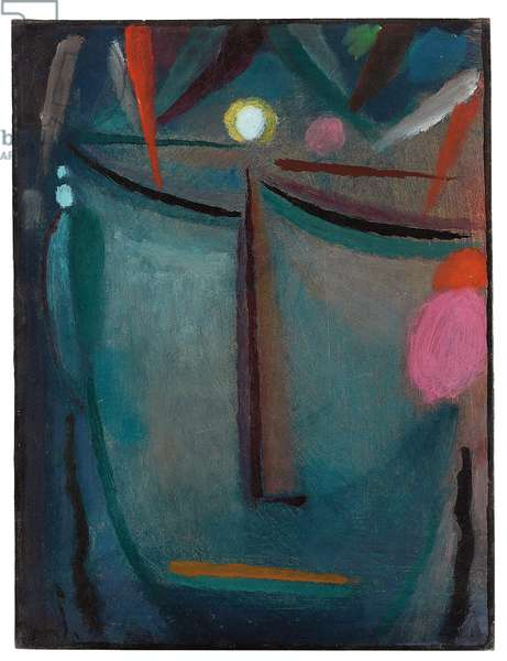 Face of Christ, Crown of Thorns, 1918 (oil on cardboard)
