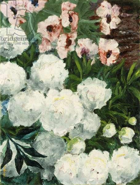 Bright White Peonies and Poppies; Heller Mohn und Weisse Paonien, 1940 (oil on canvas)