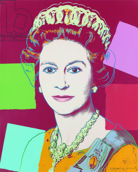 Queen Elizabeth II, from 'Reigning Queens (Royal Edition)', 1985 (screenprint & diamond dust)