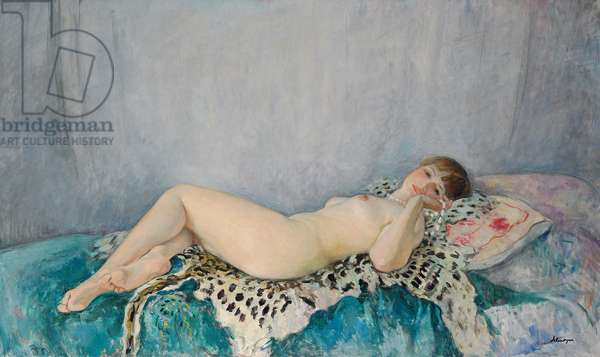 Nude on Leopard Skin, Le Cannet, 1926 (oil on canvas)
