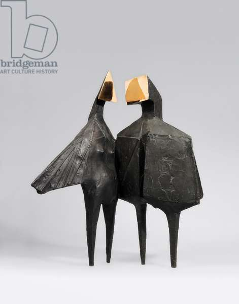 Winged Figures Version II, 1973 (bronze with a black and polished patina)