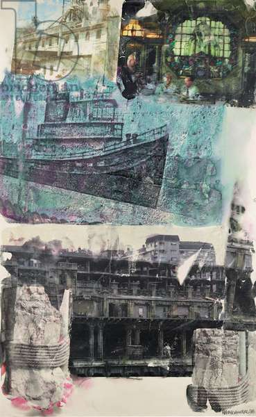 Ghost Ship Homecoming, 1998 (inkjet pigment transfer on polylaminate)