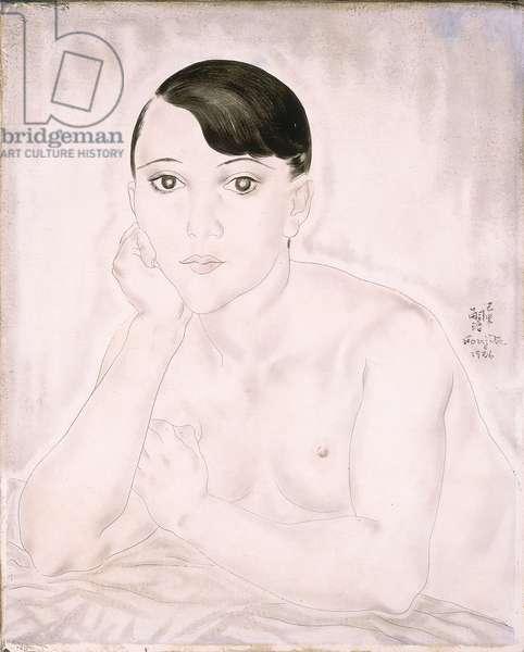 Kiki de Montparnasse, 1926 (oil & ink on canvas)