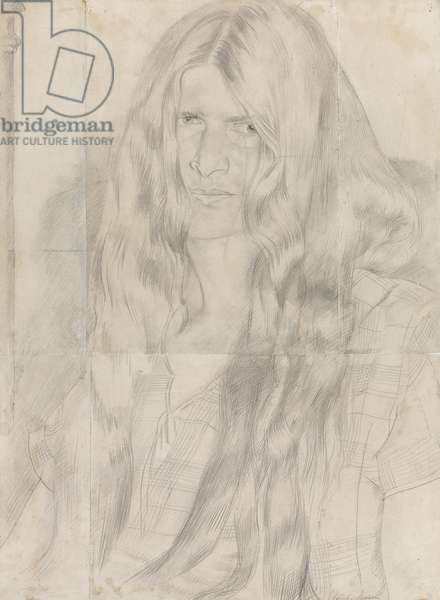 Hilda with Hair Down, 1931 (pencil on five pieces of paper, joined)