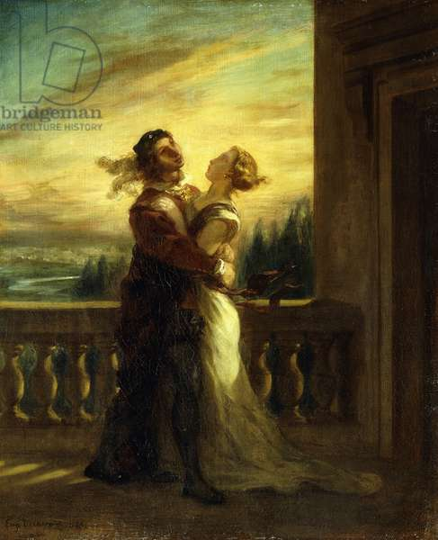 The Farewell of Romeo and Juliet; Les Adieux de Romeo et Juliette, 1845 (oil on canvas)