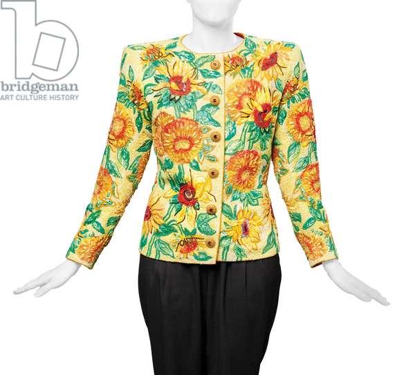 Sunflowers jacket, Yves Saint Laurent haute couture Spring-Summer 1988