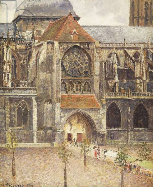 Portal of the Church of the Saint-Jaques in Dieppe; Portail de l'Eglise Saint-Jaques a Dieppe, 1901 (oil on canvas)