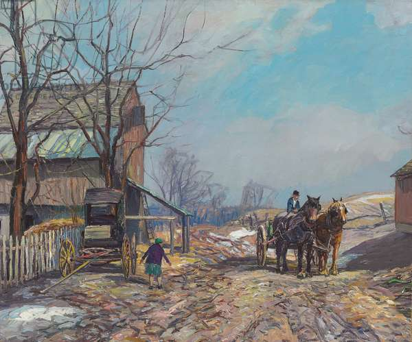 When Spring Comes, c.1930s (oil on canvas)