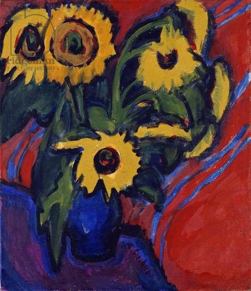 Sunflowers, 1909-18 (oil on canvas)