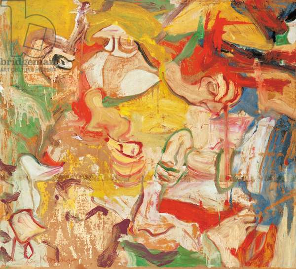 Untitled, 1969-72 (oil on paper laid down on canvas)