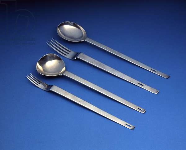 D.W. Hislop set of spoons and forks (silver)