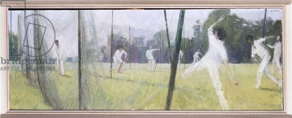 Practice in the Nets, 1961 (oil on canvas)