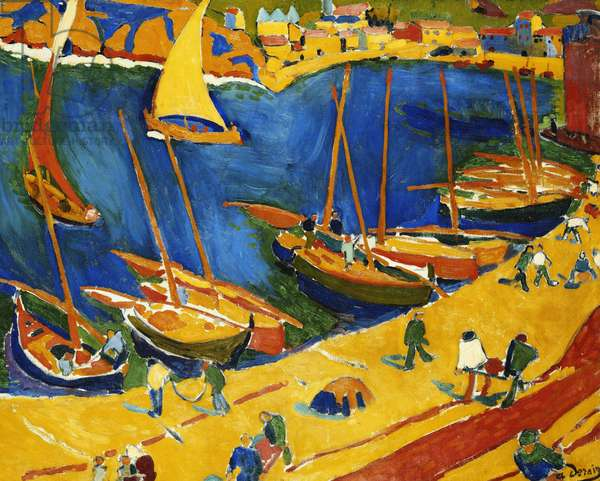 Collioure: The Fishing Port; Collioure: Le Port de Peche, 1905 (oil on canvas)