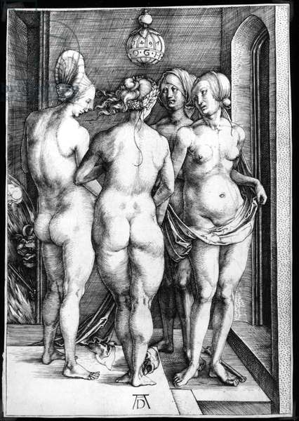 Four Naked Women, or The Witches, 1497 (engraving)